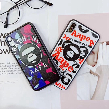 AAPE BY A BATHING APE iPhoneXS Max ケース カラフル