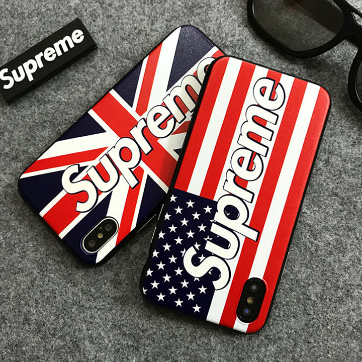 supreme iphone8plusケース 星条旗