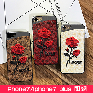 GUCCI iphone8 ケース 刺繍 バラ